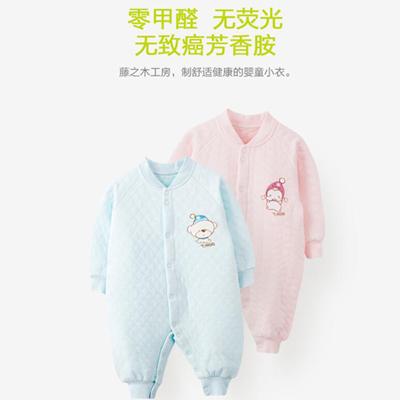 冬季连体衣宝宝新年衣加厚睡